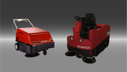 34 and TR industrial sweepers.