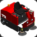 Factory Cat TR industrial rider industrial floor sweeper
