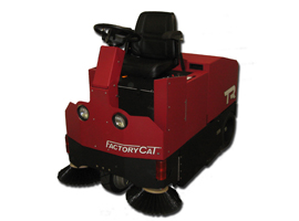 Factory Cat TR industrial rider floor sweeper