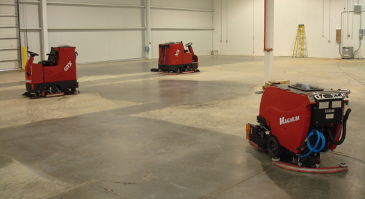 The GTX, XR, and Magnum industrial scrubbers showing what they can do.
